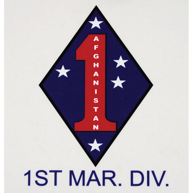 1st Marine Division Afghanistan Decal