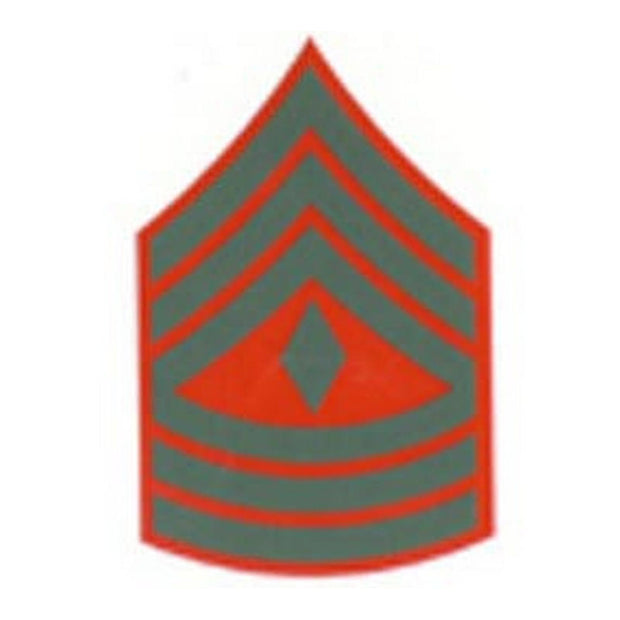First Sergeant Red and Green Rank Insignia  Decal