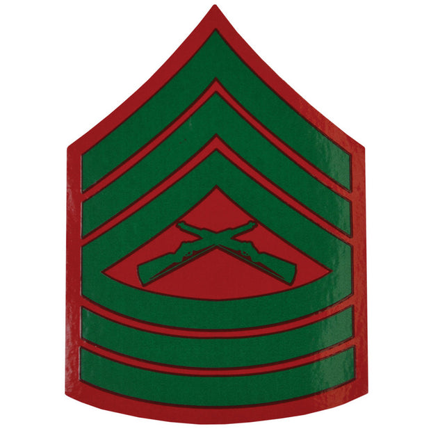 Master Sergeant Red and Green Rank Insignia Decal