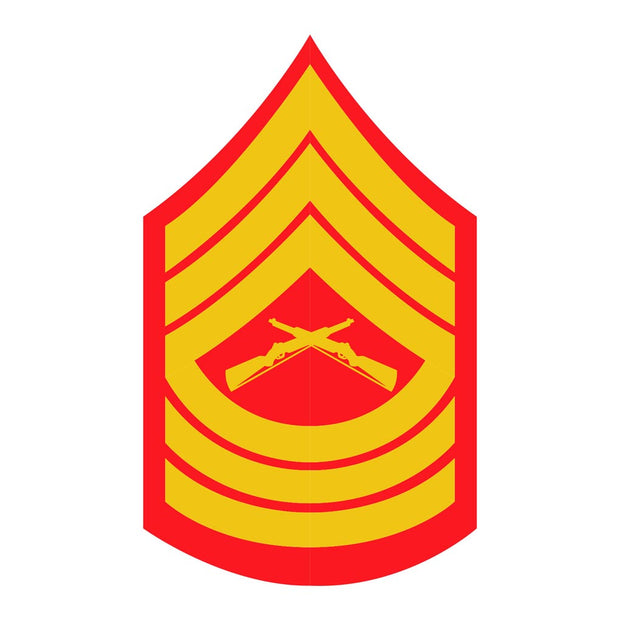 Master Sergeant Red and Gold Rank Insignia Decal