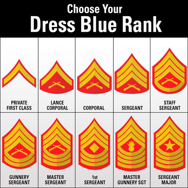 Custom Rank Insignia Assorted Colors Cover/Hat