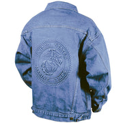 Embossed Denim Jacket