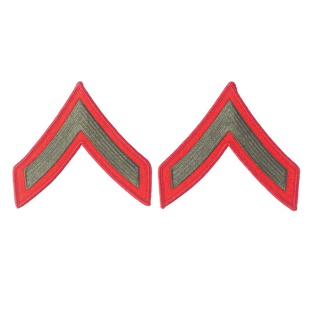 PFC Green on Red Female Chevrons