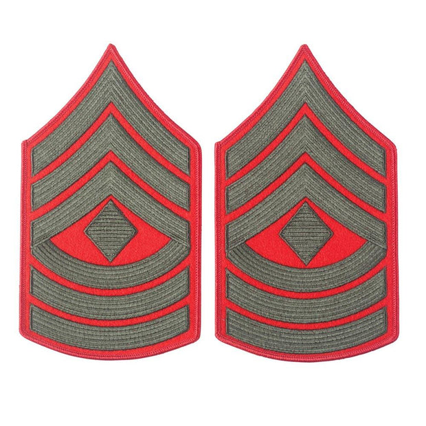 Green on Red Female Chevrons