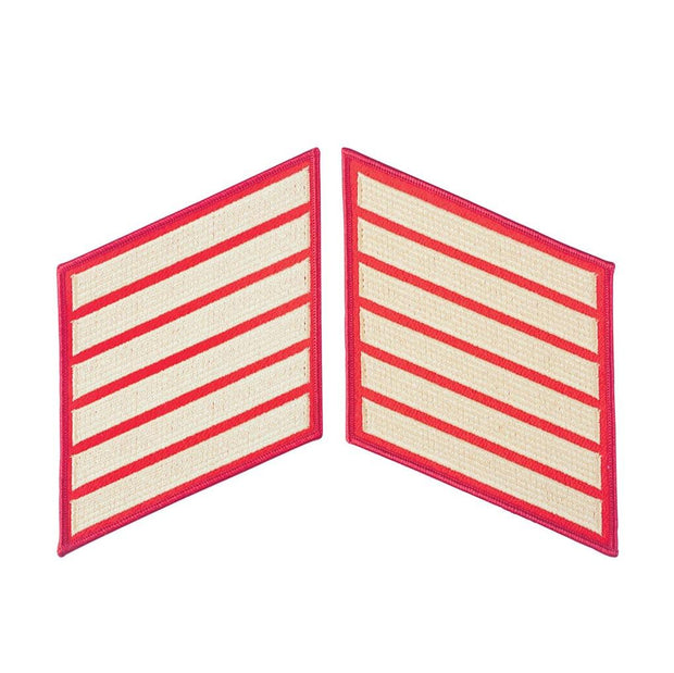 Gold on Red Female Service Stripes
