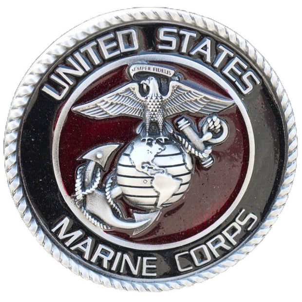 Pewter Marine Corps Hitch Cover