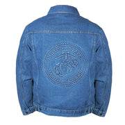 Customized Embossed Stone Washed Denim Jacket