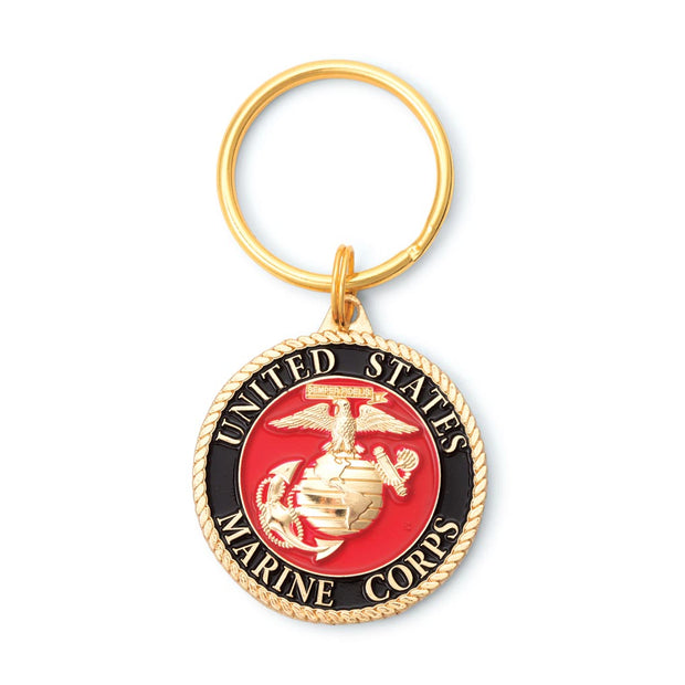 USMC Logo Key Ring