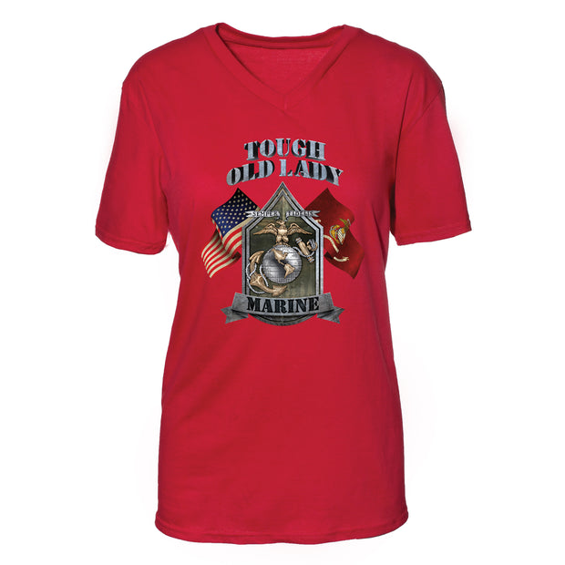 Tough Old Lady Marine T-Shirt