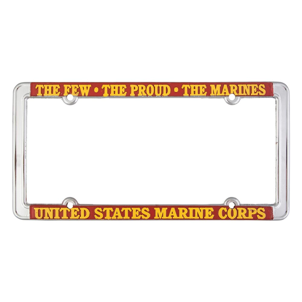 ONCE A MARINE ALWAYS A MARINE MILITARY License Plate Frame Stainless