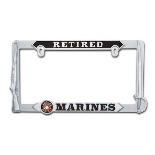 Marines Retired License Plate Frame