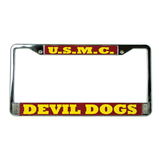 USMC Devil Dogs License Plate Frame