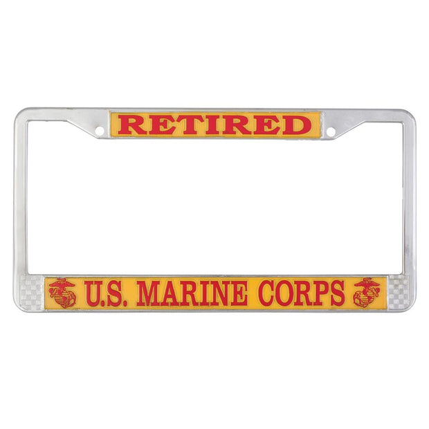 Retired US Marine Corps License Plate Frame