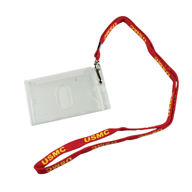 USMC  Lanyard & Badge Holder