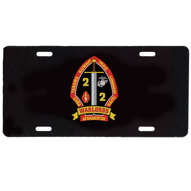 2nd Battalion 2nd Marines License Plate
