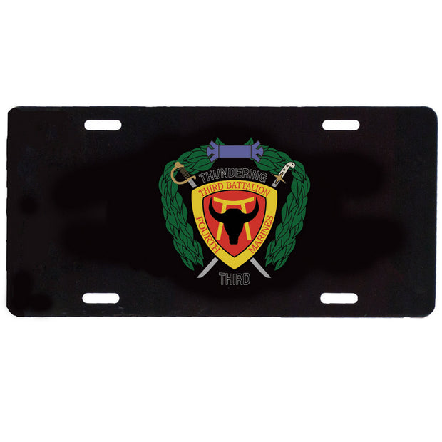 3rd Battalion 4th Marines License Plate