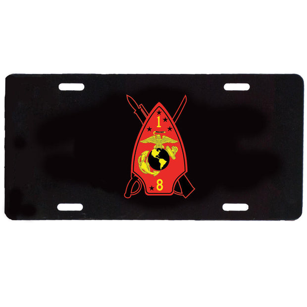 1st Battalion 8th Marines License Plate