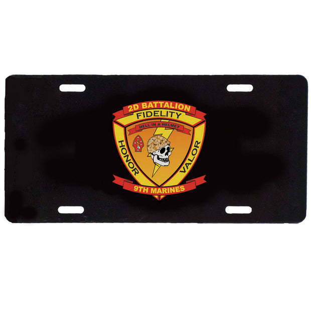 2nd Battalion 9th Marines License Plate