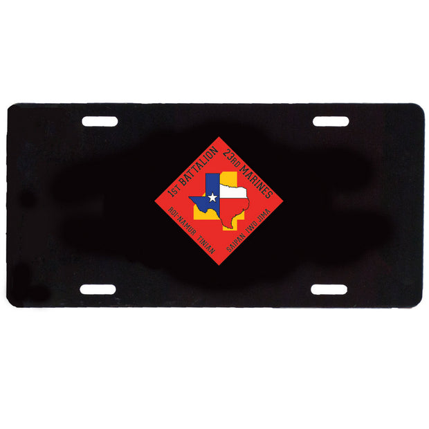 1st Battalion 23rd Marines License Plate