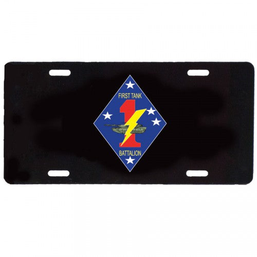 1st Tank Battalion License Plate