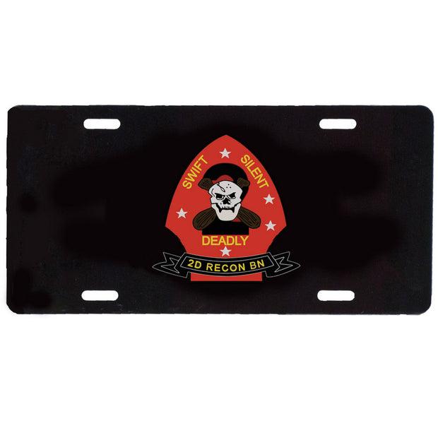 2nd Recon Battalion License Plate