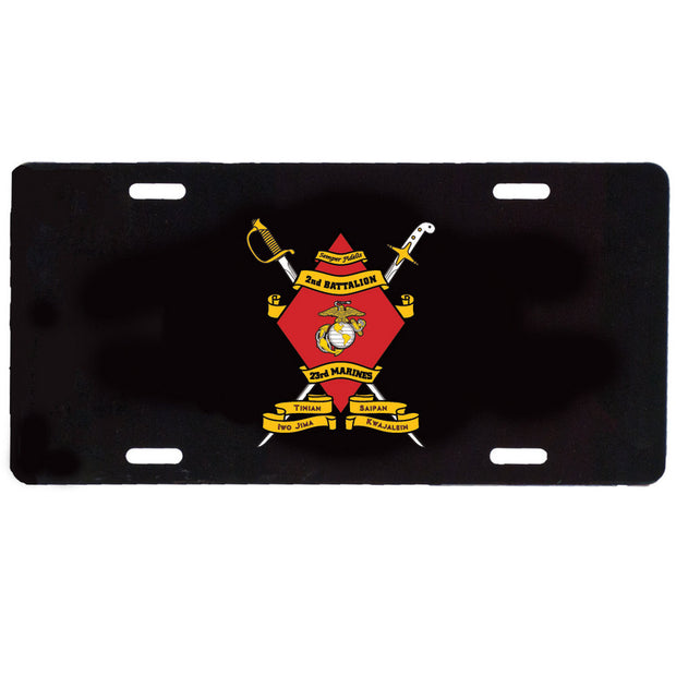 2nd Battalion 23rd Marines License Plate