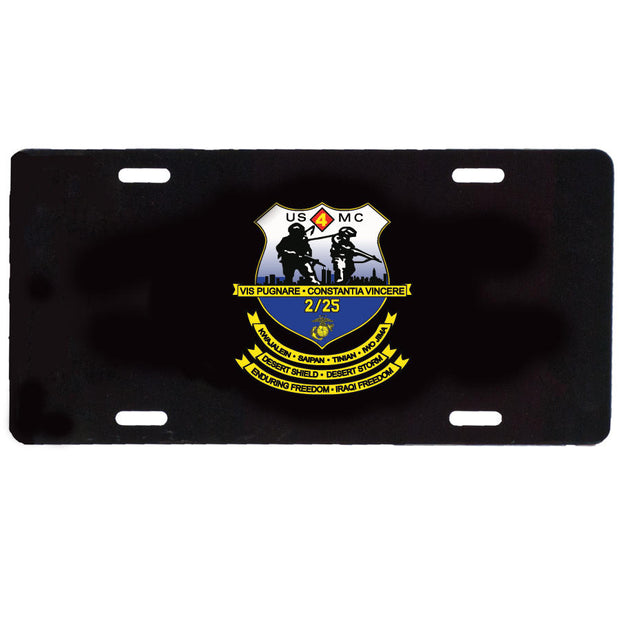 2nd Battalion 25th Marines License Plate
