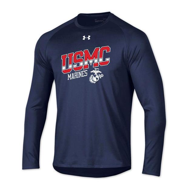 Under Armour USMC Marines Long Sleeve Tech Tee