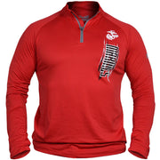 Marines Under Armour Qtr. Zip Long Sleeve Performance Tee