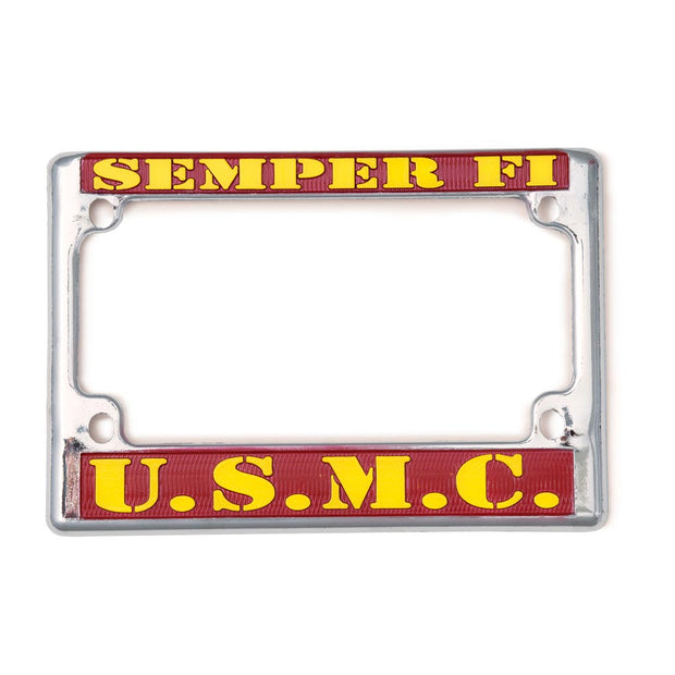 Semper Fi USMC Motocycle License Plate
