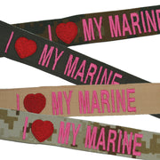 I Love My Marine Nametape