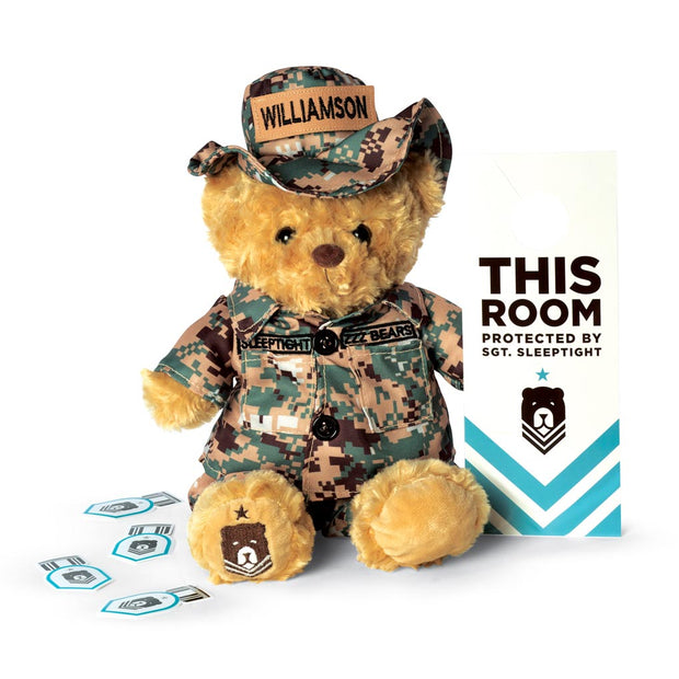 Sgt Sleeptight Camouflage Bear