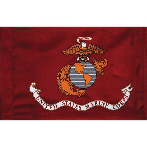 Marine Corps 3' x 2' Nylon Sleeved Flag