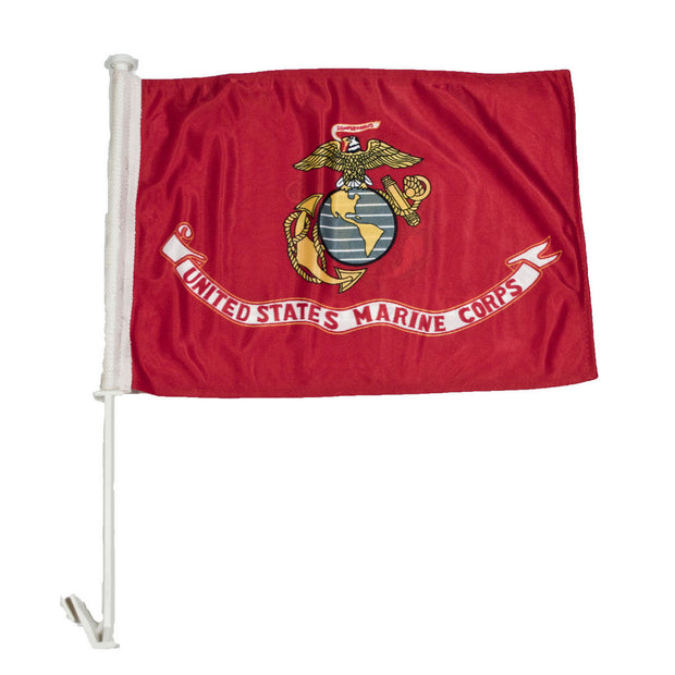 "Marine Corps 18"" x 12"" Nylon Car Flag"