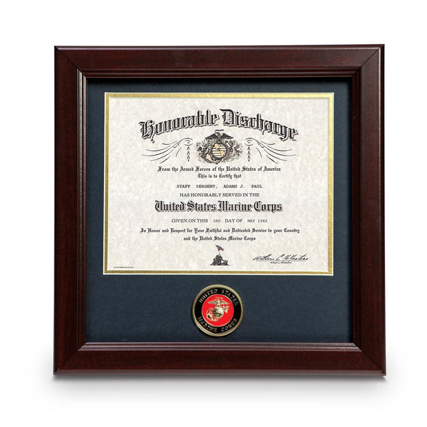 Marine Corps Certificate Frame