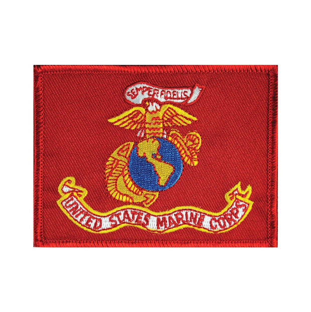 USMC Flag Patch with Hook & Loop Backing