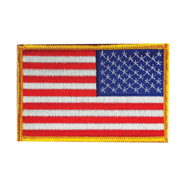 Reversed USA Flag Patch with Hook Backing