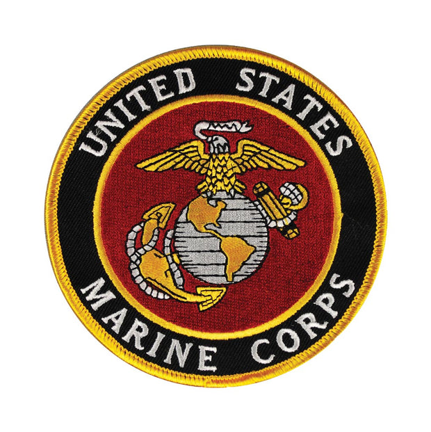 USMC Emblem Patch with Hook & Loop Backing