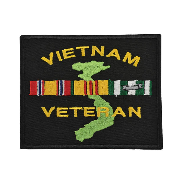 Vietnam Veteran Patch with Country and Ribbons