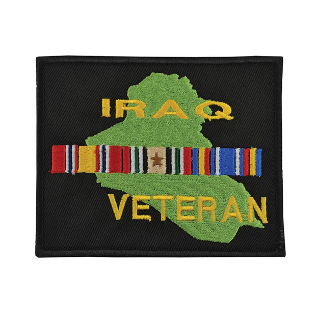 Iraq Veteran Patch with Country and Ribbons