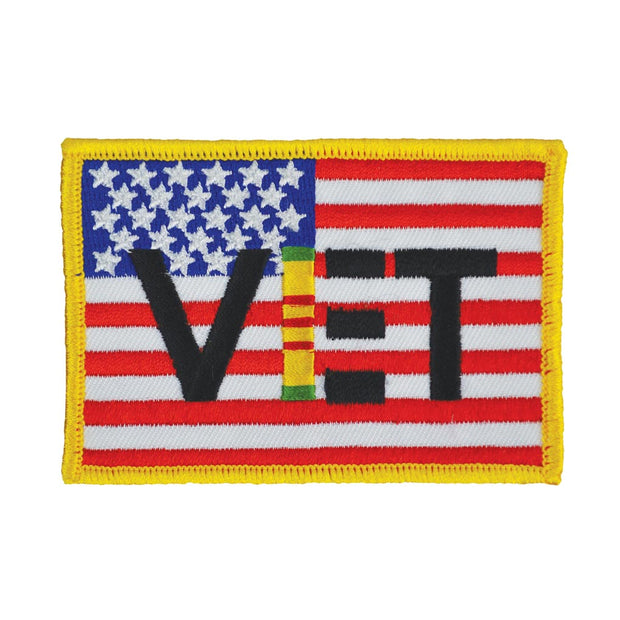 USA Flag Vietnam Veteran Patch