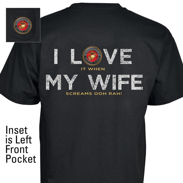 I Love My Wife Pocket T-Shirt