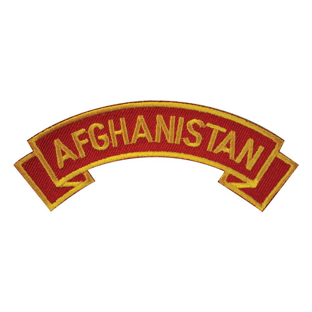 Afghanistan Rocker Patch