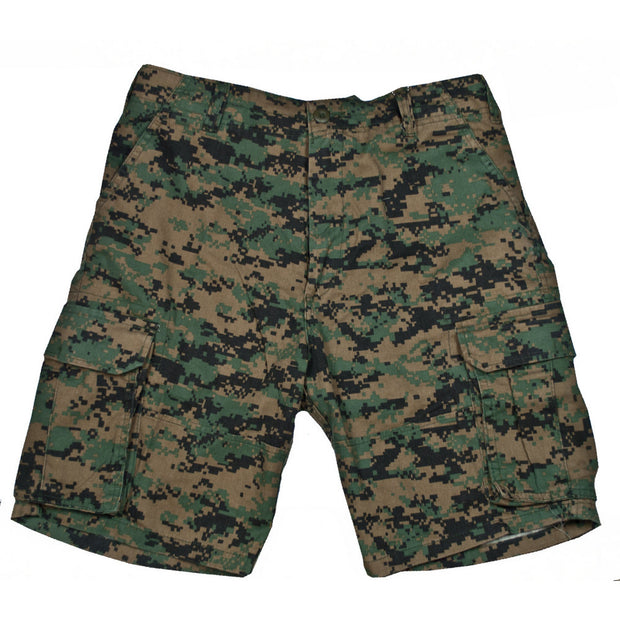 WOODLAND DIGITAL CAMO CARGO SHORTS