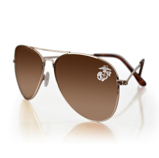 Sunglasses with Eagle, Globe, and Anchor