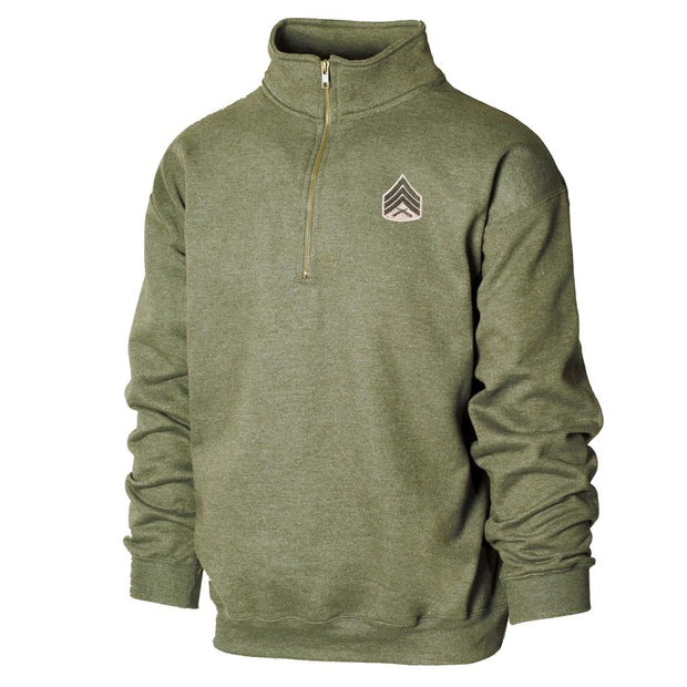 Customized Qtr Zip Cadet Collar Sweatshirt