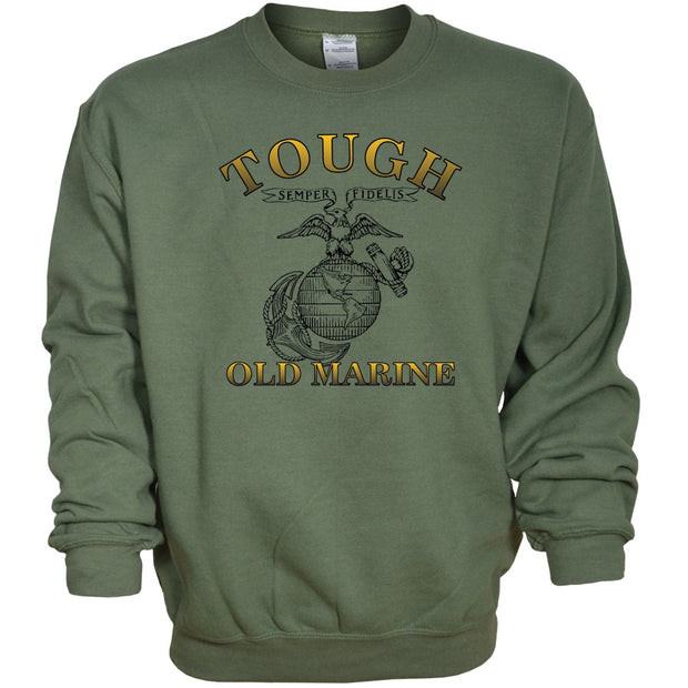 Tough Old Marine Crew Sweatshirt