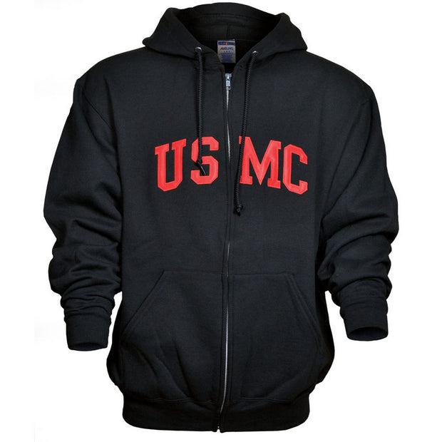 Full Zip USMC Hooded Sweatshirt