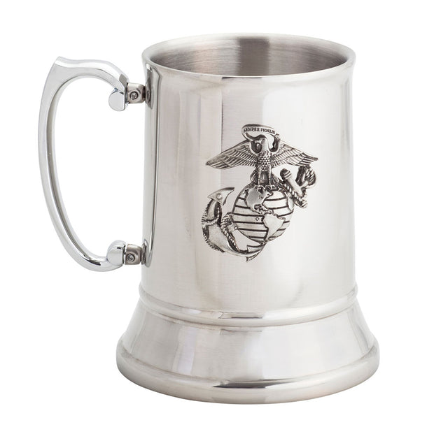 Pewter Eagle Globe & Anchor Stein