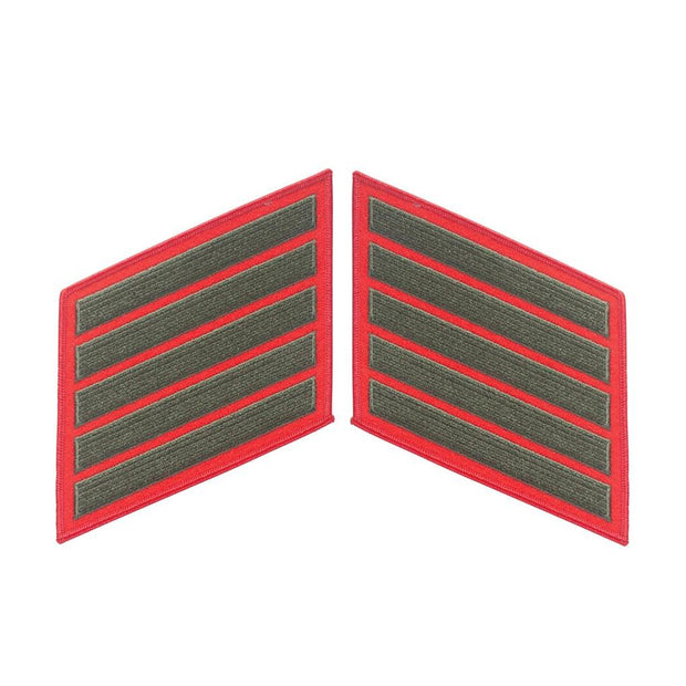 Green on Red Service Stripes